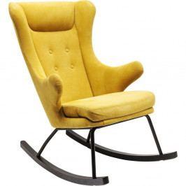 Žluté houpací křeslo ušák Kare Design Oslo
