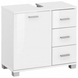 Bílá dřevěná skříňka pod umyvadlo Støraa Rhonda