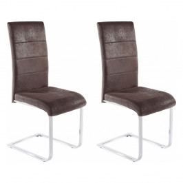 Sada 2 antracitových židlí Støraa Kosuma