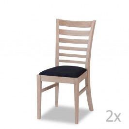 Sada 2 dubových židlí Furnhouse Jannie