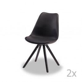 Sada 2 černých židlí Furnhouse Mille
