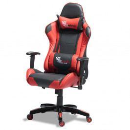Černočervená ergonomická kancelářská židle Furnhouse Gaming