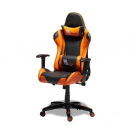 Černooranžová ergonomická kancelářská židle Furnhouse Gaming
