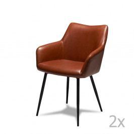 Sada 2 hnědých židlí Furnhouse Maria