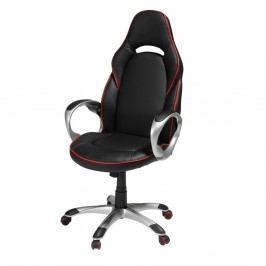 Červeno-černá kancelářská židle Furnhouse Speedy