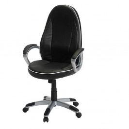 Černo-bílá kancelářská židle Furnhouse Speedy