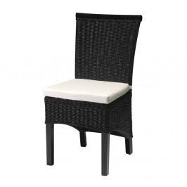 Černá židle z bambusu Furnhouse Larissa