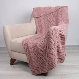 Růžový přehoz Tuti,130 x 170cm