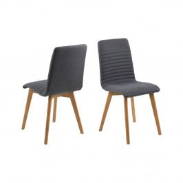 Sada 2 antracitově šedých jídelních židlí Actona Arosa