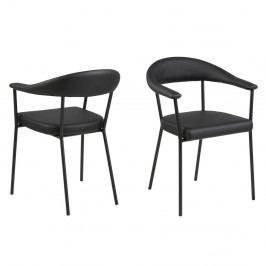 Sada 2 černých jídelních židlí Actona Ava