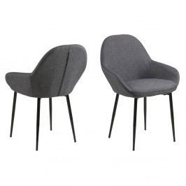Sada 2 šedých jídelních židlí Actona Candis