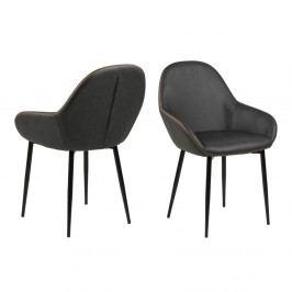 Sada 2 béžovošedých jídelních židlí Actona Candis