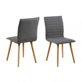 Sada 2 světle šedých jídelních židlí Actona Karla