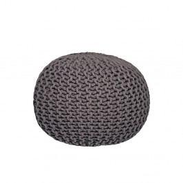 Antracitový pletený puf LABEL51 Knitted,⌀50cm
