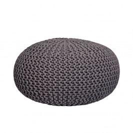 Tmavě šedý pletený puf LABEL51 Knitted XL,⌀70cm