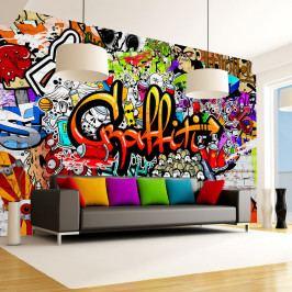 Velkoformátová tapeta Artgeist Colourful Graffiti, 300x210cm