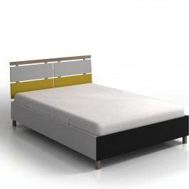 Dvoulůžková postel z borovicového a bukového dřeva SKANDICA Vaxholm, 140x200cm