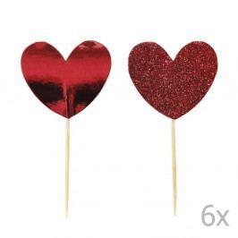 Sada 12 zapichovacích dekorací na dort Miss Étoile Heart