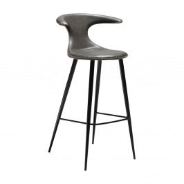 Šedá barová židle s koženkovým sedákem DAN-FORM Denmark Flair