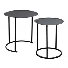 Sada 2 černých odkládacích stolků Design Twist Ocre