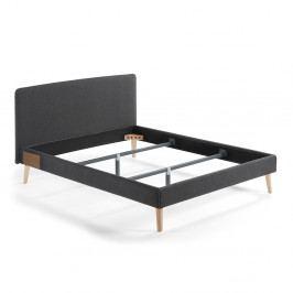 Tmavě šedá dvoulůžková postel La Forma Lydia, 200x160cm