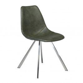 Zelená koženková jídelní židle DAN-FORM Denmark Pitch