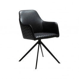 Černá jídelní židle s područkami DAN-FORM Denmark Twine