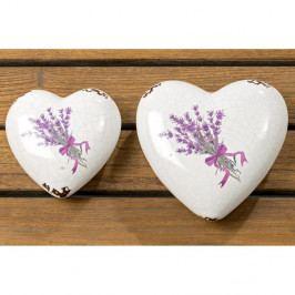 Sada 2 dekorací ve tvaru srdce Boltze Lova