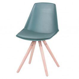 Sada 4 zelených židlí s nohama z bukového dřeva sømcasa Bella