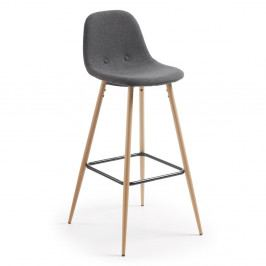 Tmavě šedá barová židle La Forma Nilson