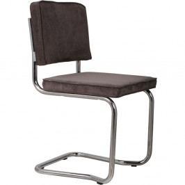 Sada 2 tmavě šedých židlí Zuiver Ridge Kink Rib