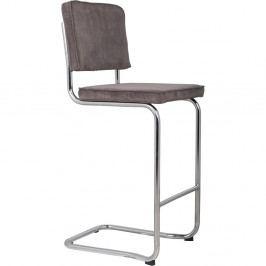 Tmavě šedá barová židle Zuiver Ridge Kink Rib
