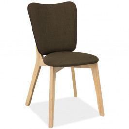 Polstrovaná jídelní židle v barvě khaki Signal Montana