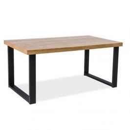 Jídelní stůl s konstrukcí z černě lakované oceli Signal Umberto, 150cm