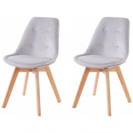 Sada 2 světle šedých jídelních židlí Støraa Ohio