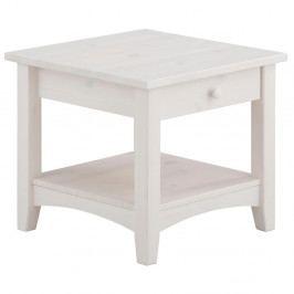 Bílý konferenční stůl se šuplíkem z masivního borovicového dřeva Støraa Chub S