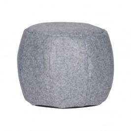 Světle šedý plstěný puf WOOOD Sef, ⌀53cm