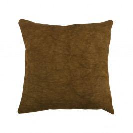 Hnědý polštář WOOOD Belle, 45x45cm