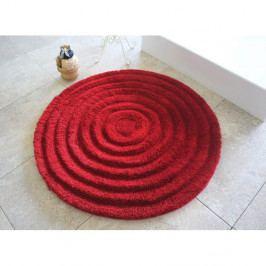 Koupelnová předložka Alessia Round Red, Ø 90 cm
