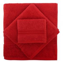 Set 2 červených ručníků z bavlny a osušky Rainbow