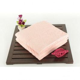 Sada 2 osušek ze 100% bavlny Kalp Pink, 50x90 cm