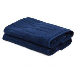 Sada 2 tmavě modrých ručníků ze 100% bavlny Gartex, 50x75cm