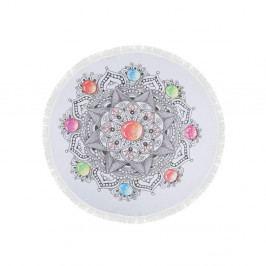 Barevná plážová osuška ze 100% bavlny Pop, ⌀ 150 cm