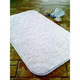 Bílá koupelnová předložka z bavlny Confetti Calypso, 57 x 100 cm