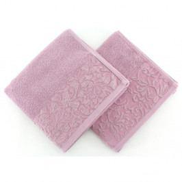 Sada 2 ručníků ze 100% bavlny Burumcuk Dusty Rose, 50x90 cm