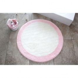 Koupelnová předložka Alessia Roda Pink, Ø 90 cm