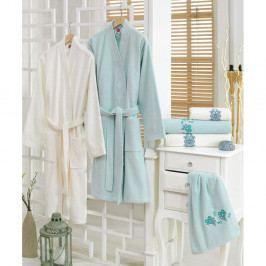 Set 2 županů a 4 ručníků ze 100% bavlny Blenda