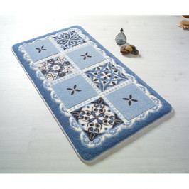 Modrá koupelnová předložka Confetti Ceramic, 80 x 140 cm