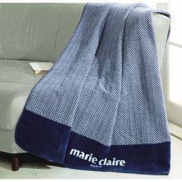Modrá deka z edice Marie Claire Bastia, 130 x 170 cm
