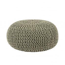 Olivově zelený pletený puf LABEL51 Knitted, ⌀70cm